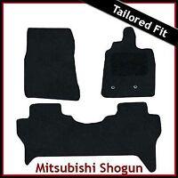 Mitsubishi Shogun Mk4 2007 onwards Tailored Carpet Car Floor Mats BLACK