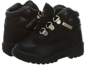 Timberland Field Boot Toddler Boys Black Leather Mesh Kids Casual Boots 15806