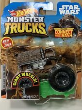 Hot Wheels 1:64 Chewbacca Monster Trucks DieCast FreeShip Connect And Crash Car
