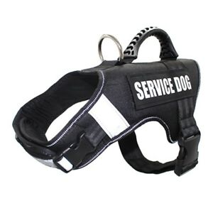Dog Service Vest Patches Harness Mesh Removable Matching Working Training Husky