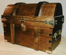 Treasure Chest - All Wood - Handcrafted - Trick Puzzle Chest - w/3 Storage Box