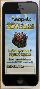 Neopets - SDCC 2019 Mystery Capsule Code (20th Anniversary Avatar)