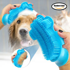 Dog Hair Brush Silicone Comb Pet Cat Grooming Massage Soft Bath Shedding  Tool