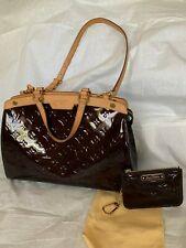 Authentic LOUIS VUITTON Vernis Brea PM 2Way Hand Bag Amarante M91622.