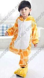 Kid Giraffe Onsie Costume Pajamas Sleepwear