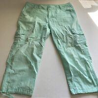 Caribbean Joe Womens Sz 12 Light Green Cropped Pants A1725