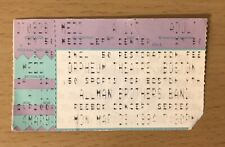 1994 Allman Brothers Band Orpheum Theatre Boston Concert Ticket Stub Gregg Duane