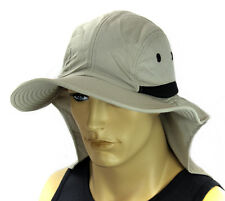 Sun Flap Boonie Cap Bucket Hat Ear Neck Cover Hat Soft Material -Cream White