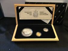 1979-1989 Canada Commemorative Maple Leaf Set Silver Gold Platinum Coins