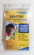 NIB Sentry Fiproguard Plus IGR for Dogs 89-132 lbs 3 applications Fleas Ticks