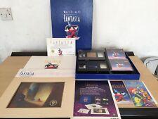 More details for walt disney fantasia collectors edition lithograph print vhs deluxe box set