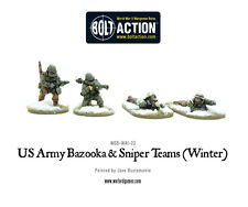 Warlord Bolt Action BNIB US Army Bazooka and Sniper teams (Winter) WGB-WAI-23