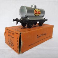 Wagon réservoir Esso HORNBY en tôle, écartement O (O Gauge tanker), BOITE