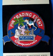 Disney Pin Stitch Dressed as Pirate & Angel Paris Blue Lagoon Event Jumbo DLRP