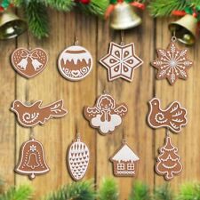 11PCS Craft Rustic Christmas Decorations Xmas Tree Plastic Hanging Ornament