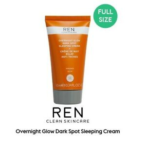REN Overnight Glow Dark Spot Sleeping Cream 10ml - New & Foil Sealed - Free P&P