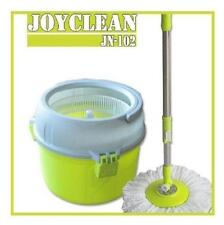 Enya easy spinning mop with bucket  3 mop heads microfiber a scrubber floor mop