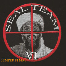 SUPPORT THE US NAVY SEAL TEAM 6 PATCH BIN LADEN TARGET USS SAILOR OFFICER CHIEF