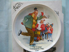 """Skating Lesson"" Collector Plate~ 2nd issue Csatari Grandparent Series~ Knowles"