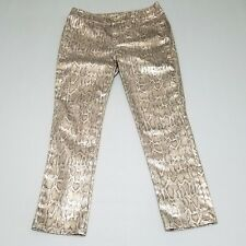 Chicos Womens Capris Pants 0 4 Snakeskin Platinum Denim kfp1