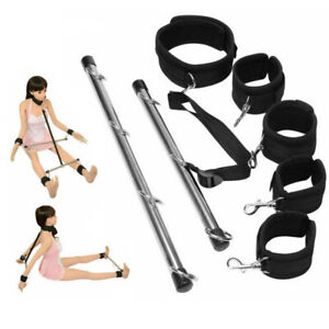 Lockable Bondage Hand Spreader Bar Wrist Ankle Cuffs Play Restraints Toy UK