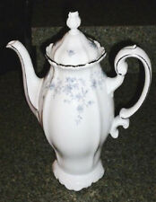 JOHANN HAVILAND China Coffee Tea Pot Lid Blue Flower Garland Bavaria Germany