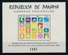 [103576] Panama 1968 Olympic Games Mexico gymnastic swimming Souvenir Sheet MNH