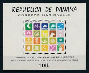[103576] Panama 1968 Olympic Games Mexico gymnastic swimming Souvenir Sheet MNH