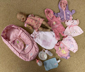 Zapf Baby Born Magic Feeding Doll with Clothes & accessories- exc cond. bundle