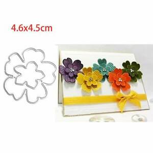Flower petal Cutting Dies Stencil DIY Scrapbooking Album Paper Card Embossing