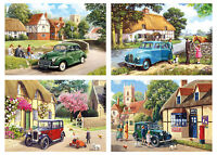 Gibsons Out & About Quality Jigsaw Puzzles (4 x 500 Pieces) - Brand New Gibson