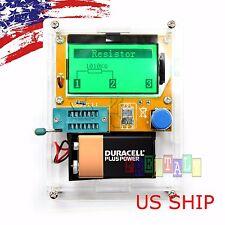 Cased 12864 Mega328 ESR Meter Transistor Resistor Diode Triode Capacitor Tester