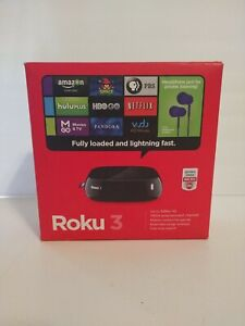 ROKU 3 Model 4200X with AC Adapter Streaming Media Player