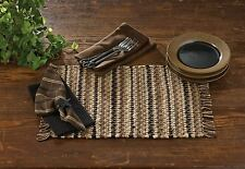 Placemat - Tanner Chindi by Park Designs - Kitchen Dining Brown Black Tan