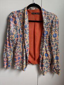 Zara Drape Sequin Multi Coloured Slouch Blazer Worn Twice Size Small