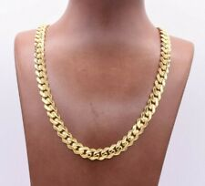 9mm Miami Cuban Royal Link Chain Necklace CZ Box Clasp Real 10K Yellow Gold