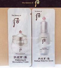 The History of WHOO Seol Whitening & Moisturizing Cream 10pcs + Eye Serum 10pcs