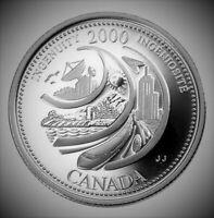 FEBRUARY INGENUITY 1 x 2000 Canada Millenium 25 cent UNC Quarter