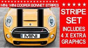 MINI/ MINI COOPER BONNET AND BOOT STRIPES  CAR VINYL GRAPHICS/ DECALS STICKERS
