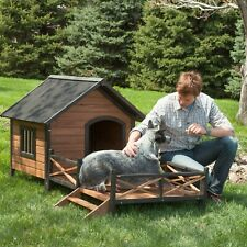Waterproof Wood Wooden Medium Dog House Kennel Cabin Pet Puppy Cage Outdoor N5