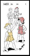 Pattern ROMPER Sun Suit New York #1433 BABY GIRL BOY Child BONNET Hat UNISEX ~1~