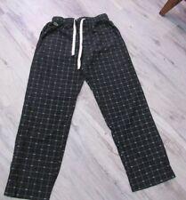 Men's Lacoste sleepwear pajama pants bottoms, blue with alligator print size S