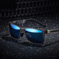 Men's Polarized Aluminium Sunglasses Outdoor Driving Sun Glasses Sport Eyewear