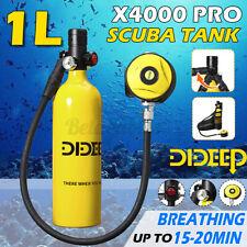 Dideep 1L Mini Scuba Tank Diving Oxygen Reserve Air Hand Pump Dive Equipment Us