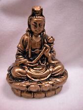 "Dollhouse Miniature 2""x2"" Buddha Budda Buddah Guang Ying Statue Gold  #Z0405"