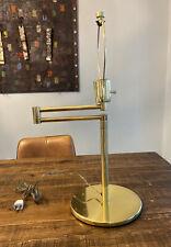 Vintage  Hansen Brass Swing Arm Desk Table Lamp MCM Metalarte