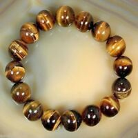 8mm Natural Tiger Eye Stone Gemstone Beads Men Jewelry Bracelet Bangle Jewelry