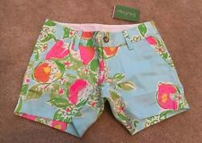 Lilly Pulitzer Callahan Shorts in Pool Blue Pink Lemonade Size 00