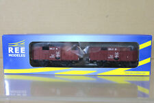 REE MODELES WB-263 SNCF PLM COUVERT VENT VAN GOODS WAGON SET Ep II ng