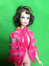Vintage Mattel Barbie TNT Francie # 1170 Brunette Short Flip Curly Hair Doll